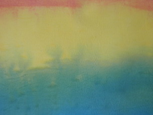 ombre painted fabric
