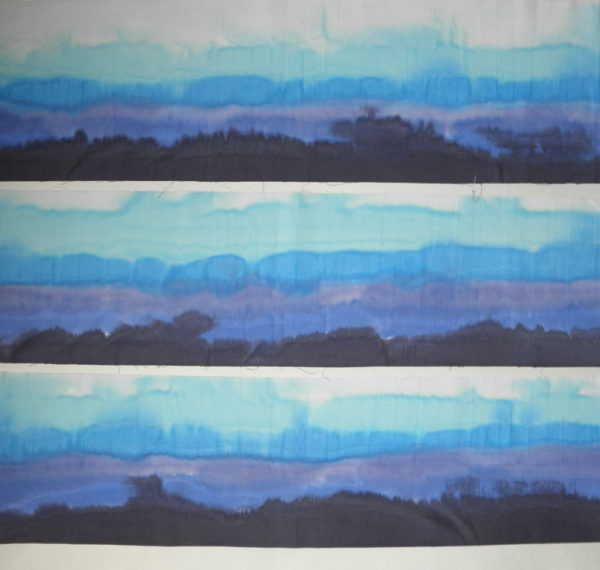 hand painted border quilt fabric