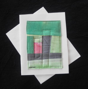 quilted card in green color theme