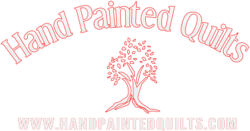 Hand painted  Fabric for quilts and interior decor-handpaintedquilts.com