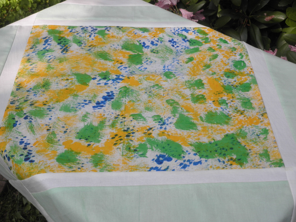 tablecloth made of handpainted fabric
