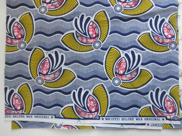wax printed fabric from africa