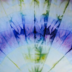 Close up of tie dye pattern