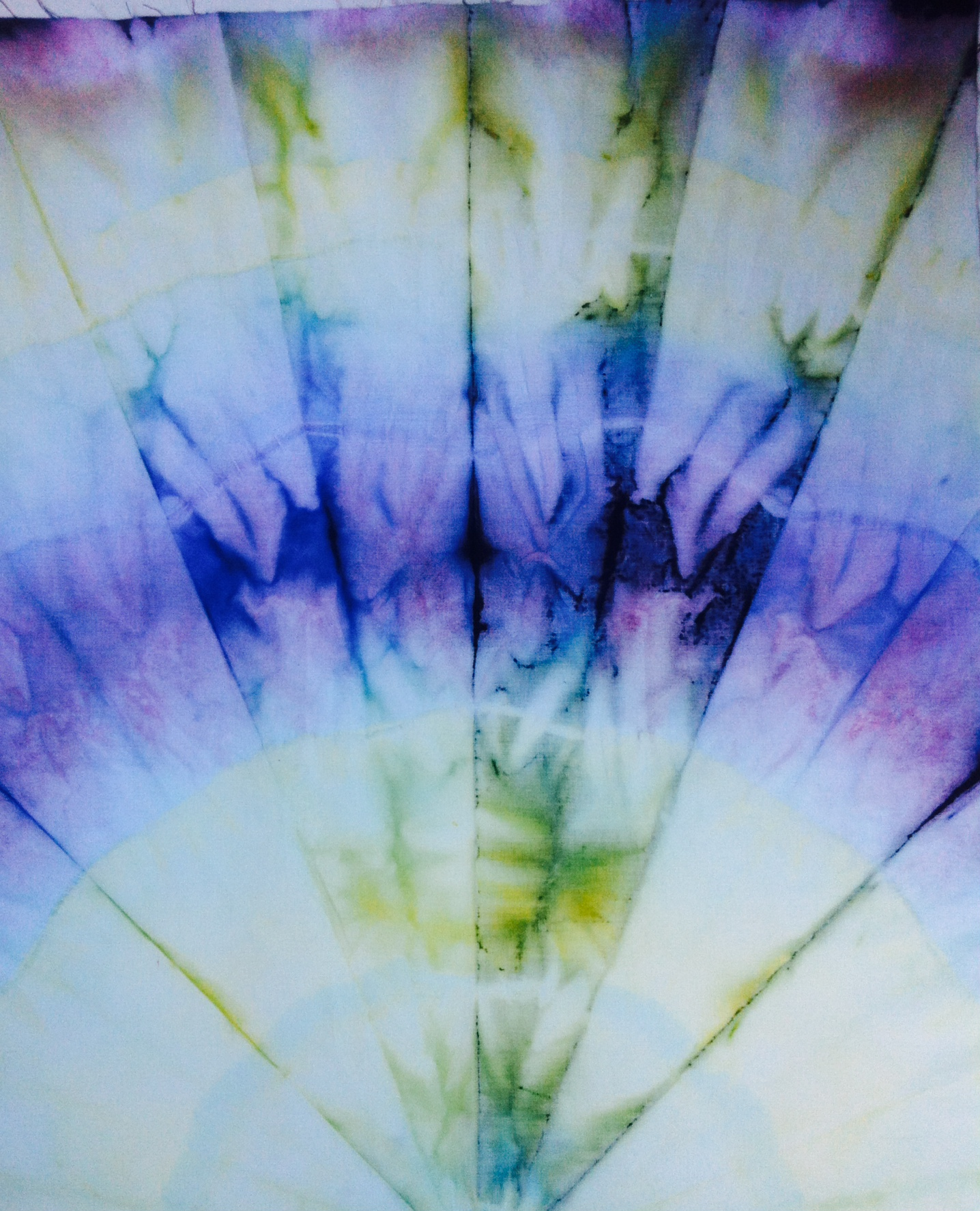 Beautiful tie dyed mandala cotton fabric for quilt making and home decor