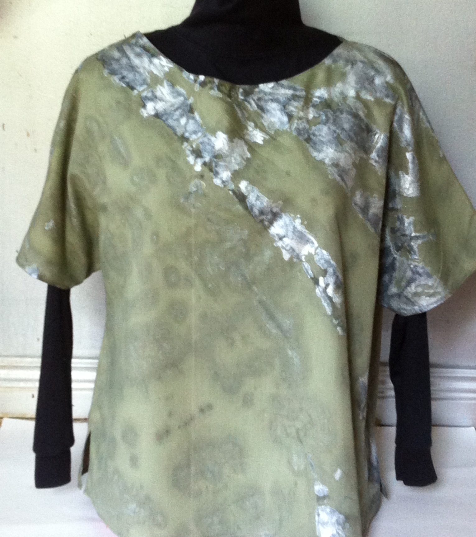 Tie dyed t shirt style blouse