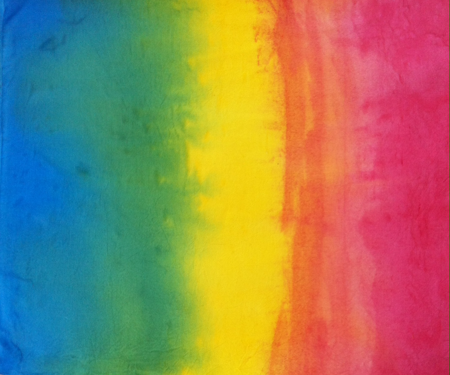 Hand Painted Soft Cotton Fabric Blend Of Blue Red Yellow Colors For All